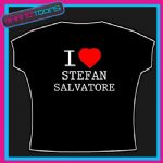 I LOVE HEART STEFAN SALVATORE VAMPIRE DIARIES  TSHIRT